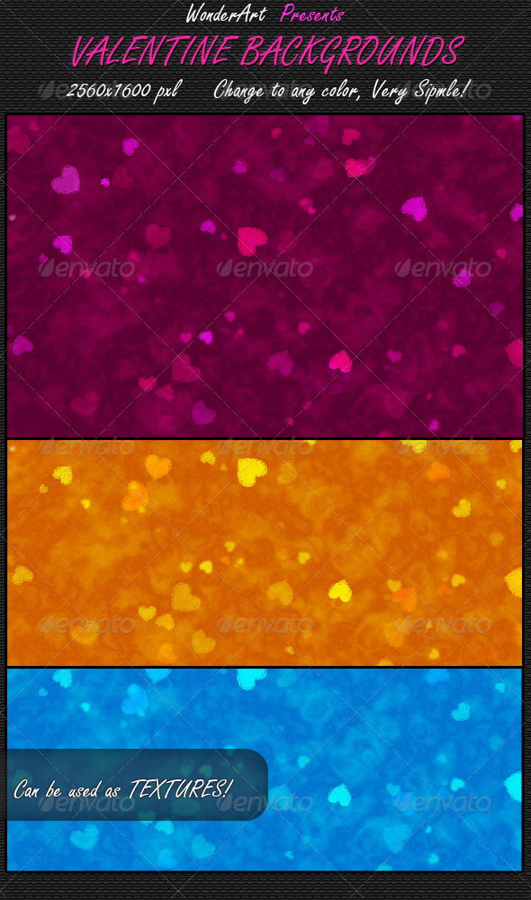 GraphicRiver Valentine Backgrounds 156754