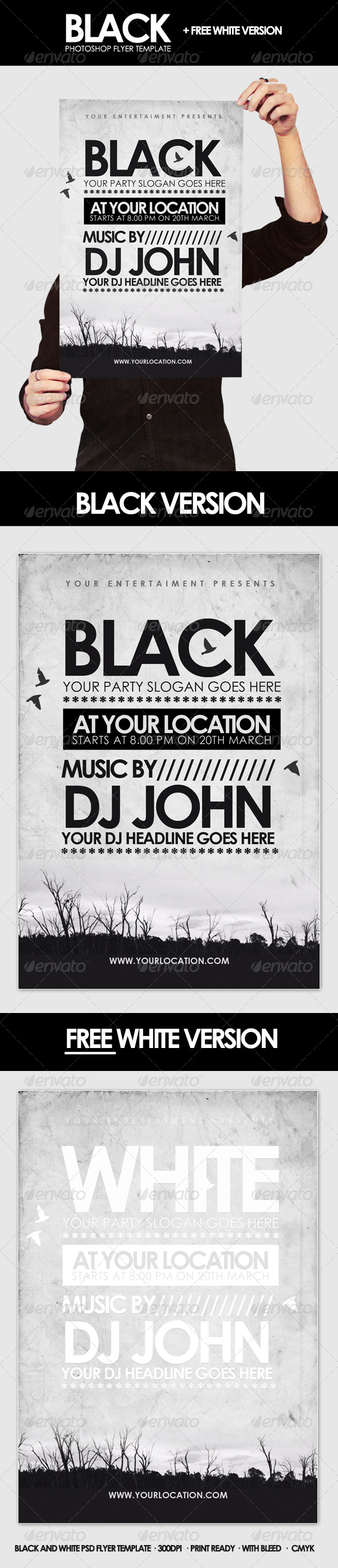 Black - Flyer Template - Clubs & Parties Events