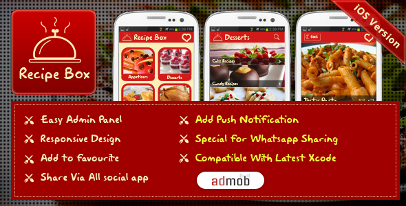 CodeCanyon iOS Recipe Box 13031455