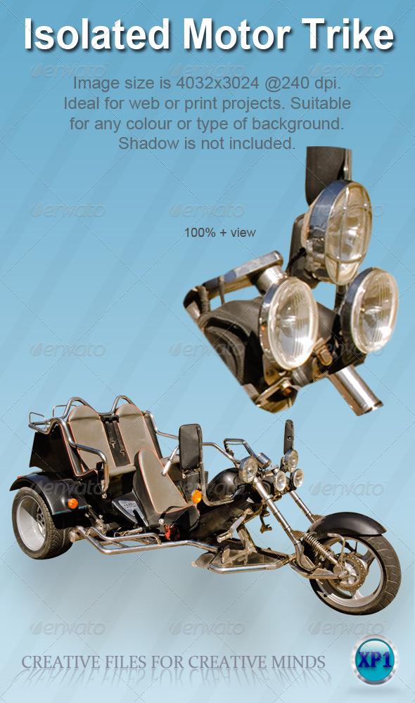 Isolated Motor Trike Bike