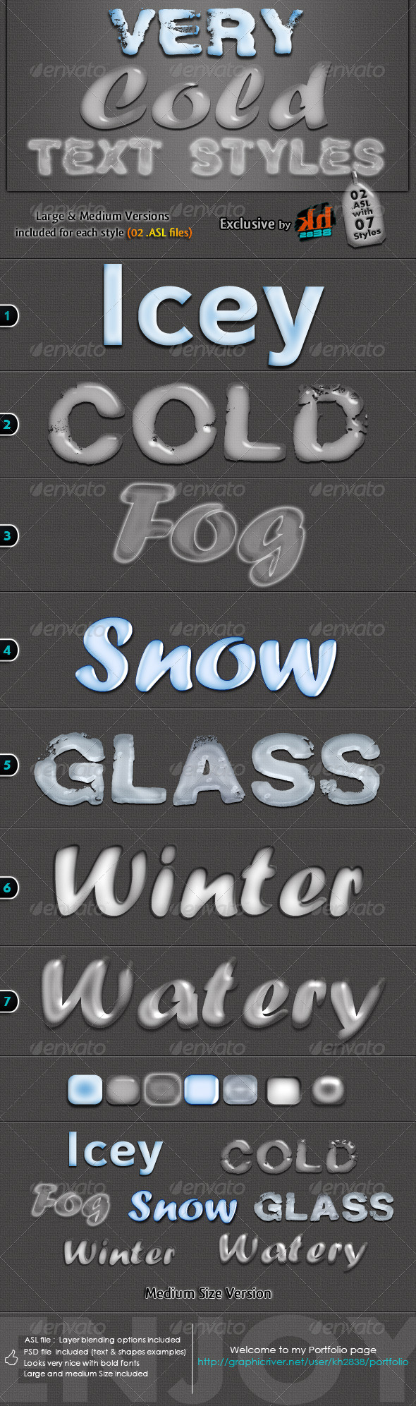 Very Cold Text Styles - Text Effects Styles
