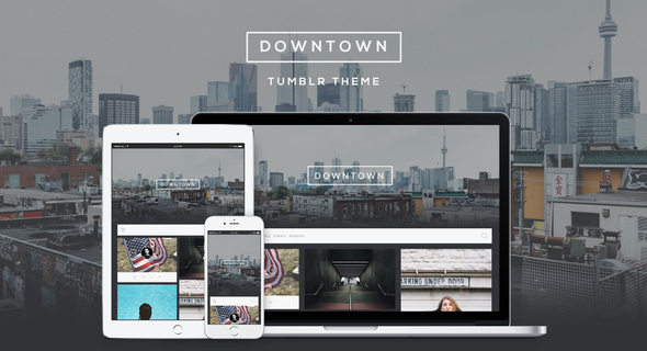 Downtown – Responsive Grid Theme (Tumblr) images