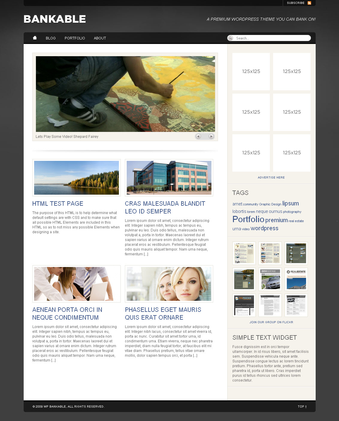 WP Bankable - Business & Portfolio w/Video 5 in 1