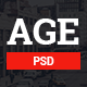 AGE - Material Design Magazine Blog PSD Template - ThemeForest Item for Sale