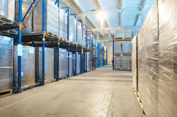 PhotoDune warehouse with rack arrangement 1305397
