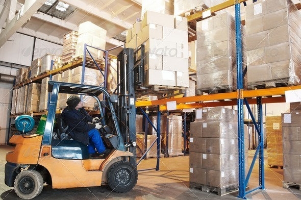 Stock Photo - PhotoDune warehouse forklift loader worker 1305436