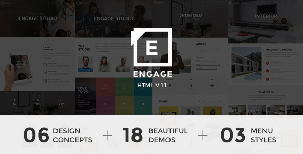 27. Engage - Creative One Page Parallax