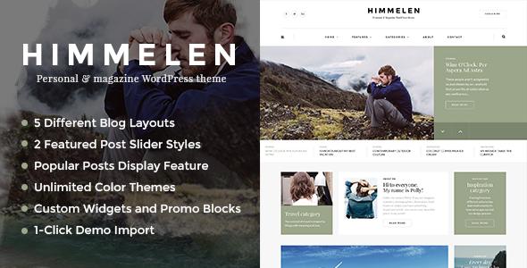Himmelen - Personal WordPress Blog Theme