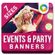 HTML5 Events & Party Banners - GWD - 7 Sizes