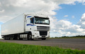 white lorry with white trailer