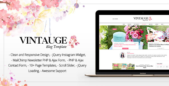 28. Vintauge - Responsive Blog & Fashion HTML Template