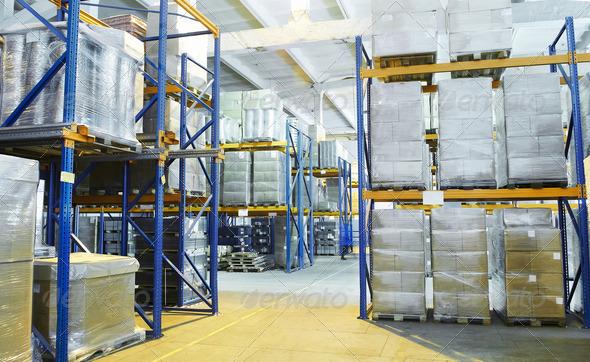 PhotoDune warehouse with rack arrangement 1306067