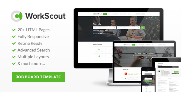 17. WorkScout - Job Board HTML Template