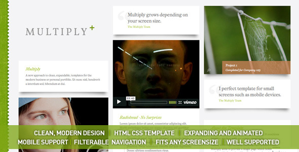 ThemeForest – Multiply – Blog and Portfolio HTML/CSS Templates