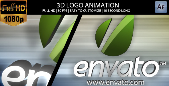 After Effects Project - VideoHive 3D Logo Animation 156988