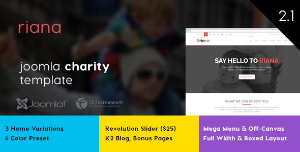 Riana - Joomla Charity Template