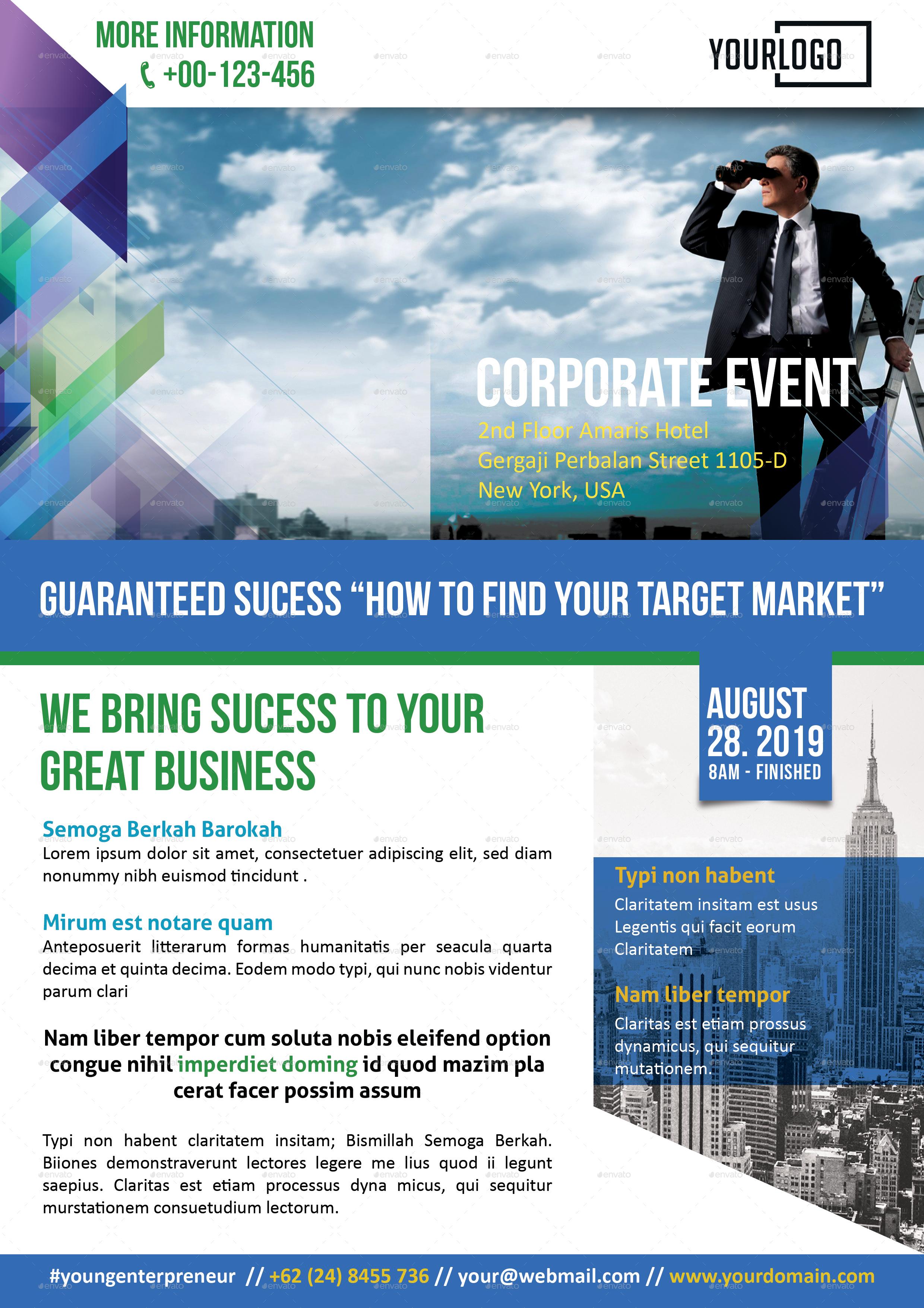 Event Corporate Flyer Bundle by yesangga – Seminar Flyer