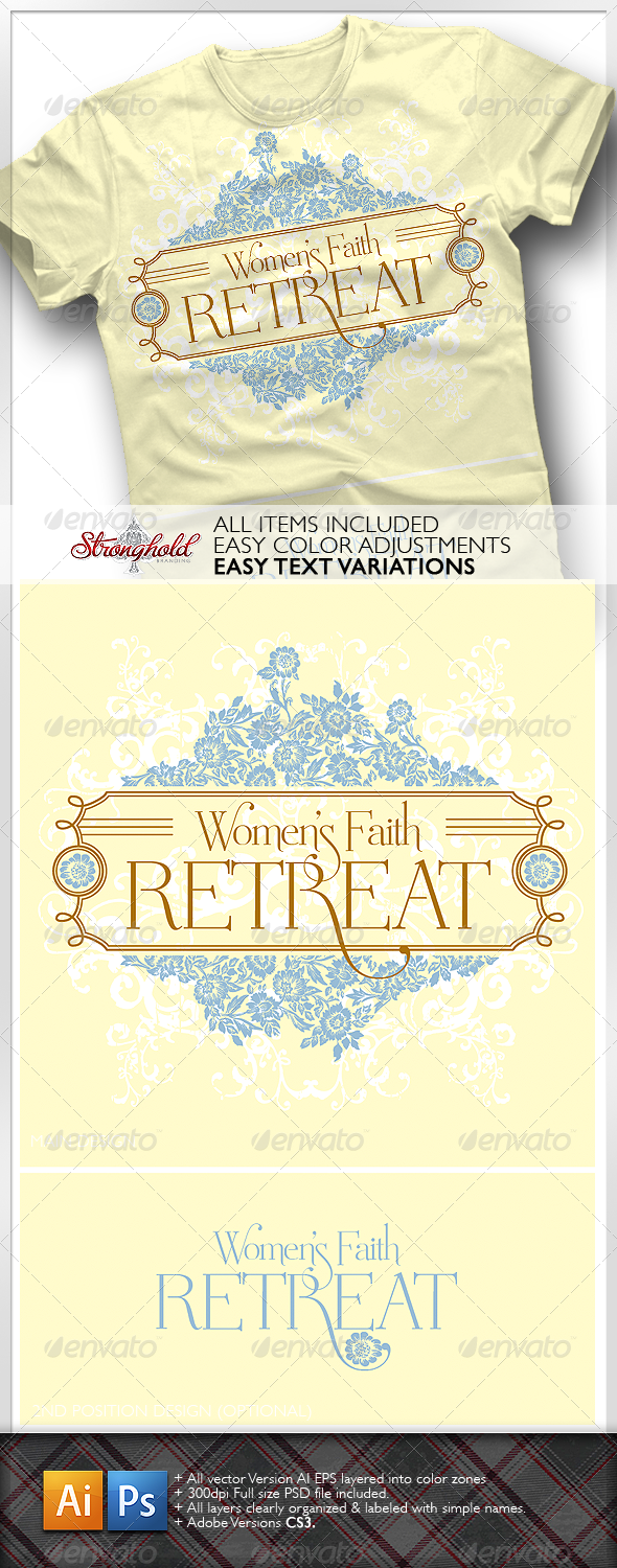 Women's Retreat T-Shirt - Church T-Shirts