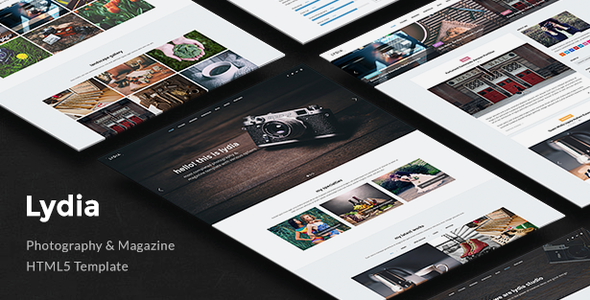 16. Lydia - Photography & Magazine Site Template