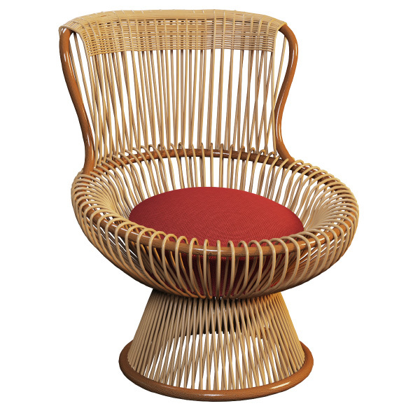 Outdoor wicker chair MARGHERITA - 3DOcean Item for Sale