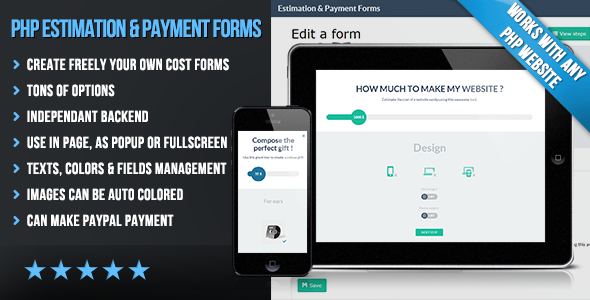 PHP Flat Estimation & Payment Forms