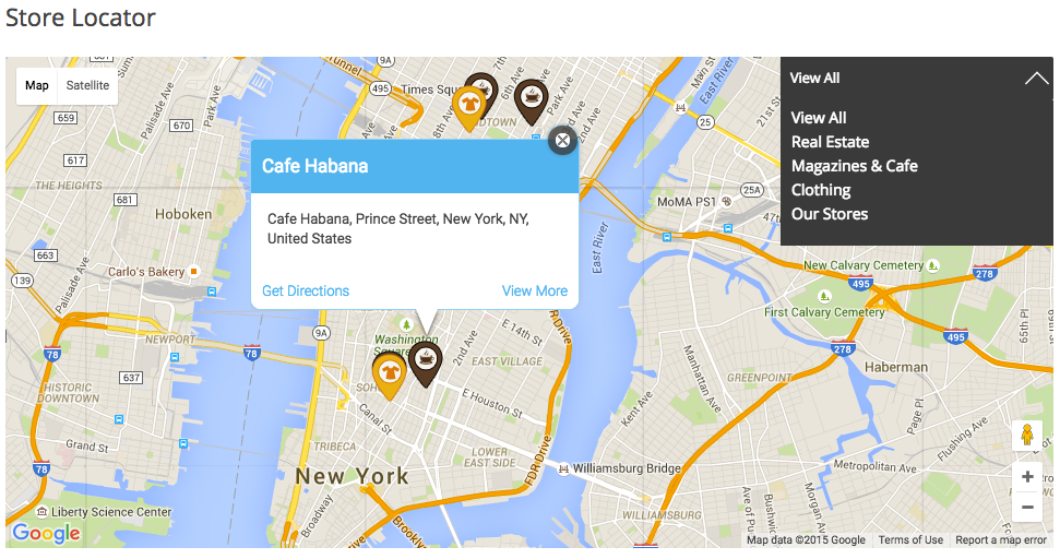 WordPress WooCommerce Maps Store Locator By DawnThemes CodeCanyon - Google maps custom marker