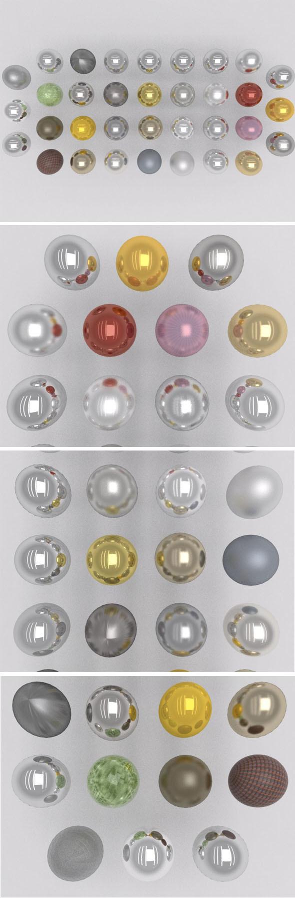 34 metal shaders - 3DOcean Item for Sale