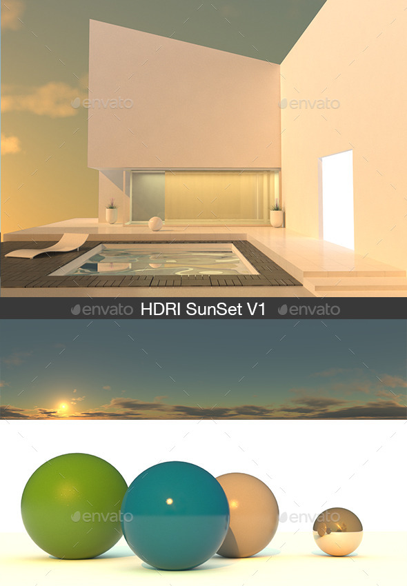 HDRI sunset V1 - 3DOcean Item for Sale