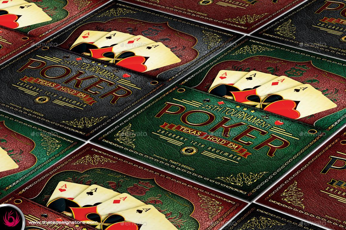 Poker tournament flyer template