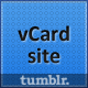 All Down the Line: A Mini vCard site for Tumblr  Free Download