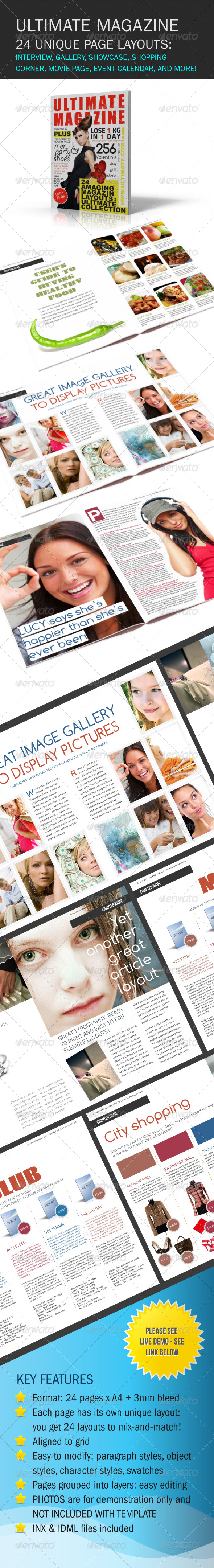 Ultimate Magazine 24 layouts