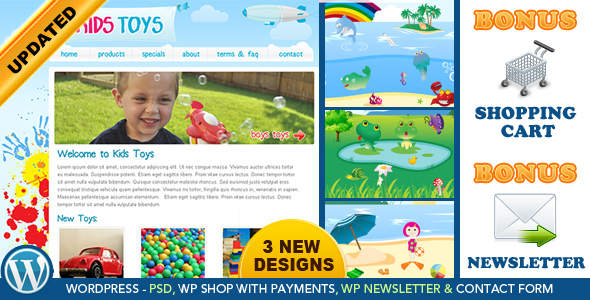 Kids Toys - WordPress Shop & Newsletter