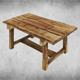Rustic Wood Table 01