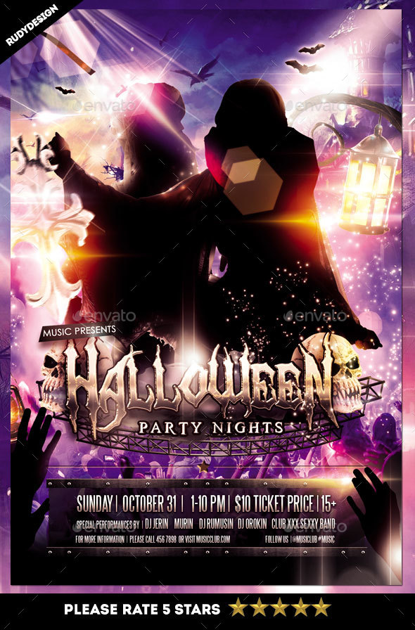 Halloween Costume Party Night Flyer