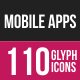 Mobile Apps & Settings Glyph Inverted Icons