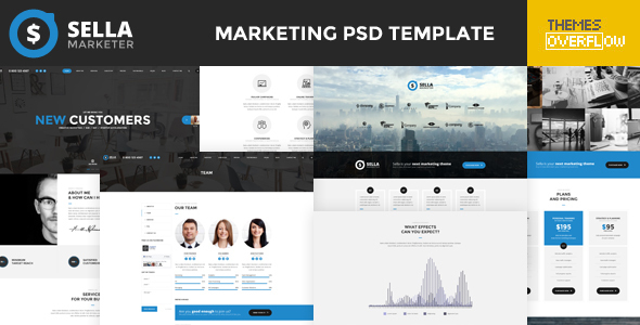 Sella - Marketing PSD Template
