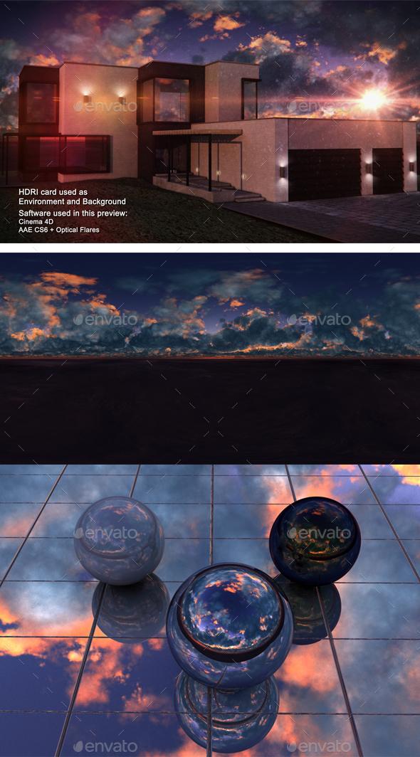Sunset Desert 28 - 3DOcean Item for Sale