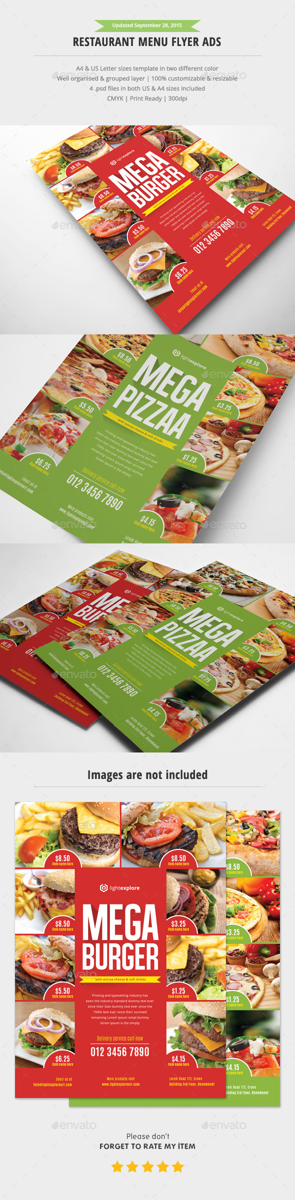 Restaurant Menu Flyer Ads
