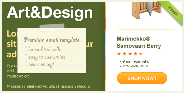 Art&Design - Horizontal Email Template