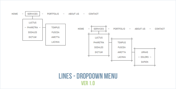Lines - Dropdown Menu - CodeCanyon Item for Sale