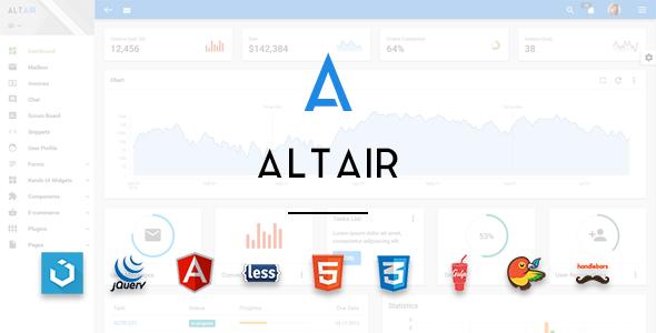 5. Altair Admin Material Design UIkit Template
