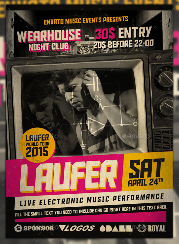 Urban Music Event Flyer Template