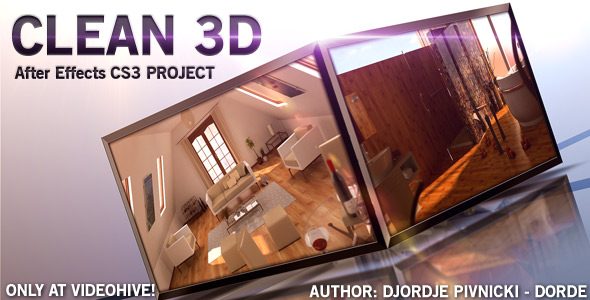 After Effects Project - VideoHive CLEAN 3D 157081