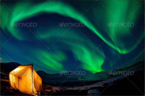 PhotoDune Northern lights 1309530