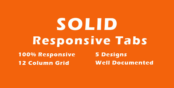 CodeCanyon SOLID CSS3 Responsive Tabs 13085652