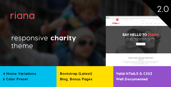 Riana - Charity HTML Template