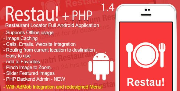 Restau! Full Restaurant Locator Android App v1.4