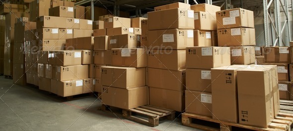 PhotoDune catron boxes in warehouse 1308639