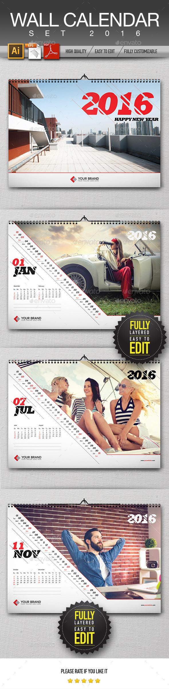 Wall Calendar Design 2016