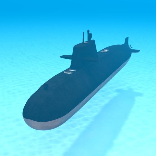 3D Submarine - 3DOcean Item for Sale